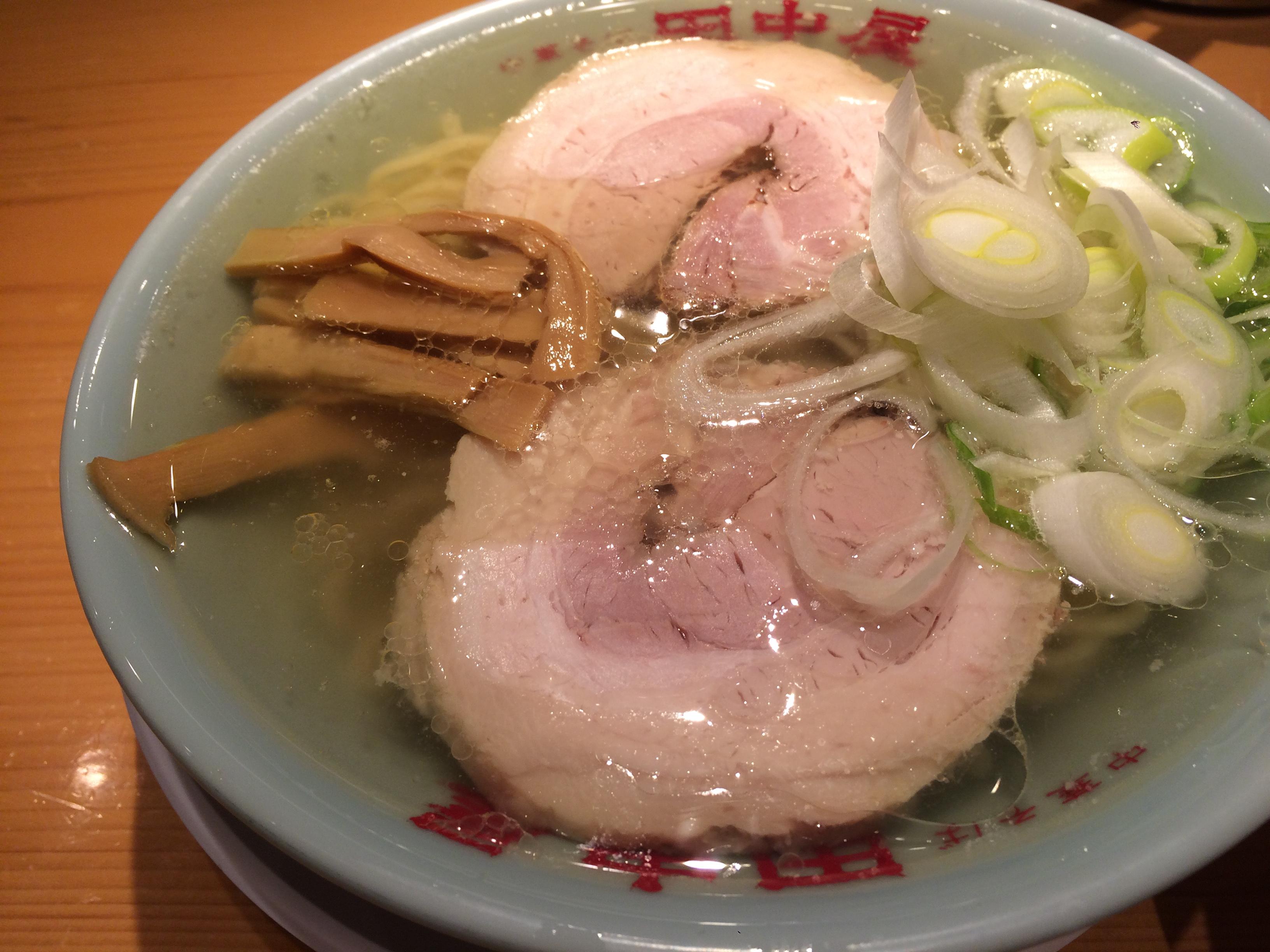 【閉店】田中屋 神楽坂店|もちもち麺が美味しい!絶品塩ラーメン